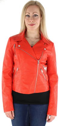 77d79ae67495 Only Jacka Miley biker PU röd - Skinnjackor och PU-jackor - 123334 - 1