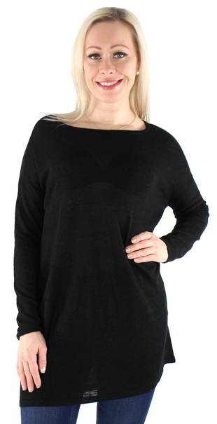 Vila Stickad tröja Filak oversize svart