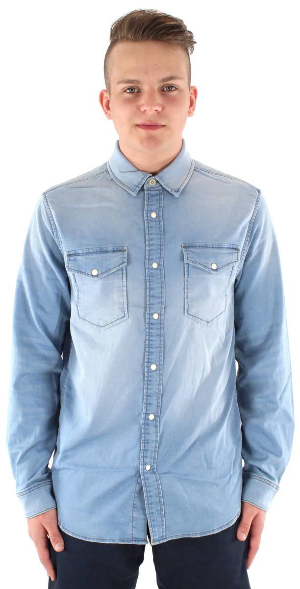 Jack Jones Jeansskjorta Ethan blue denim - Stilettoshop.se webbutik 66eb87cb89d73