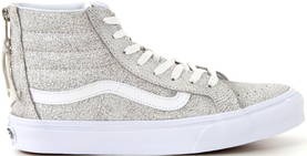 Vans SK8-Hi slim zip crackle suede vit - Sneakers - 113349 - 1