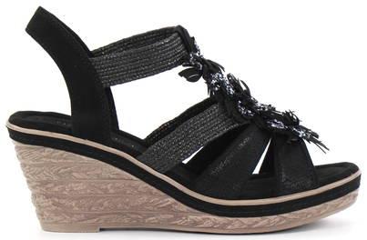 Marco Tozzi Kilklackade sandaler 28302 24 svart